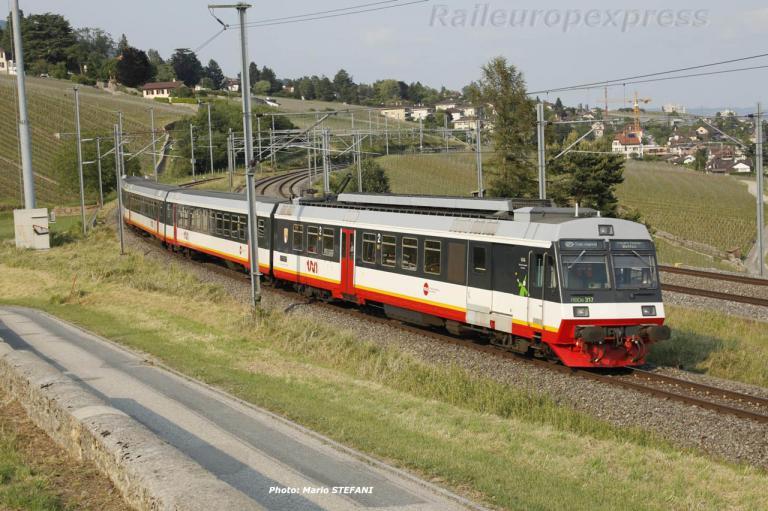 RBDe 567 317 TRN à Auvernier (CH)