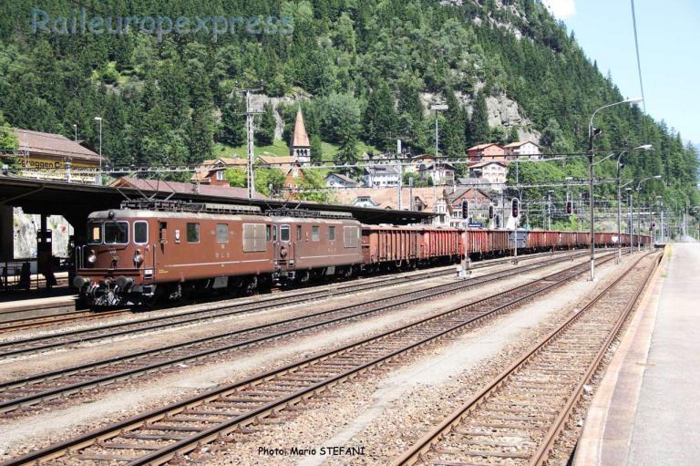 Re 4/4 188 BLS à Goschenen (CH)