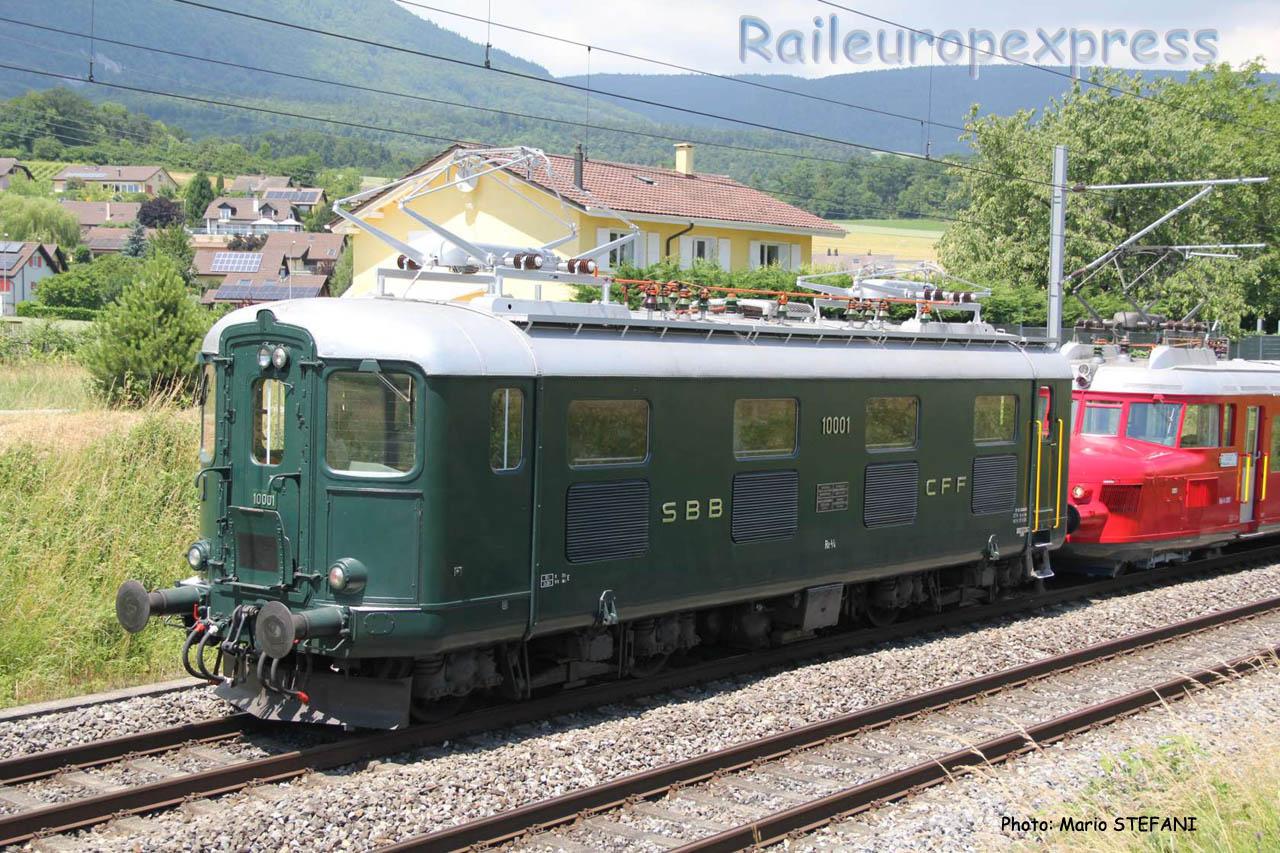 Re 4/4 I 10001 CFF à Boudry (CH)