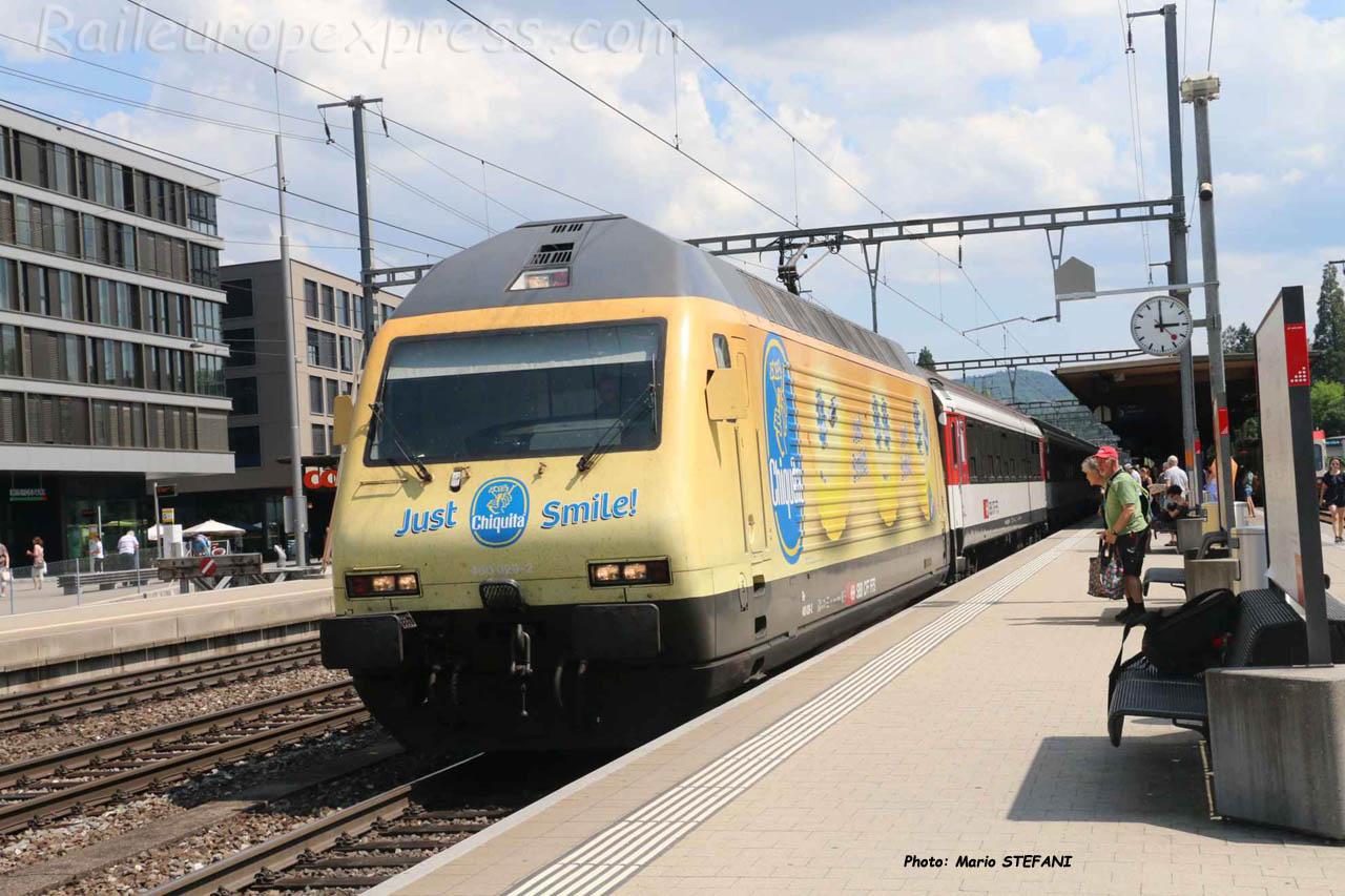 Re 460 029-2 CFF à Liestal (CH)