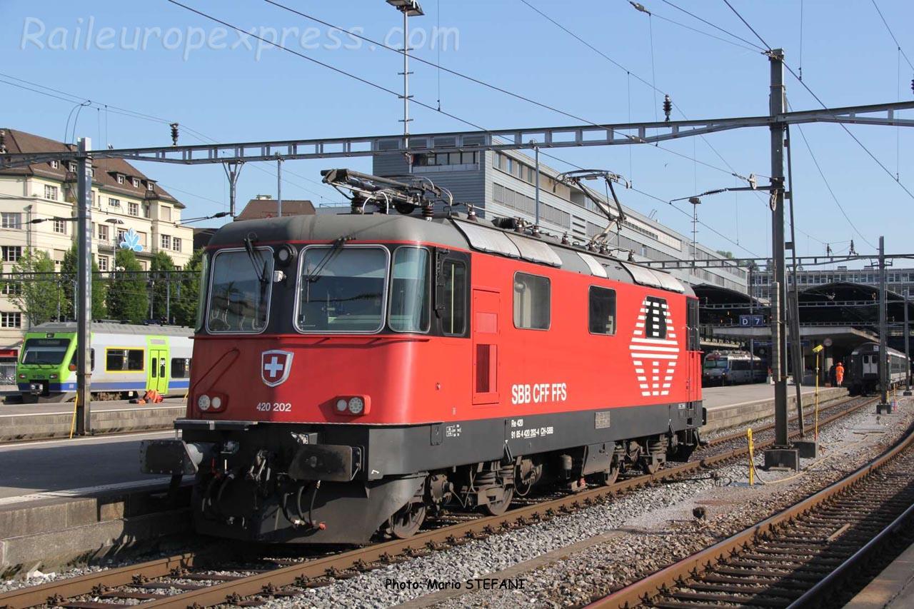 Re 420 202 CFF à Luzern (CH)