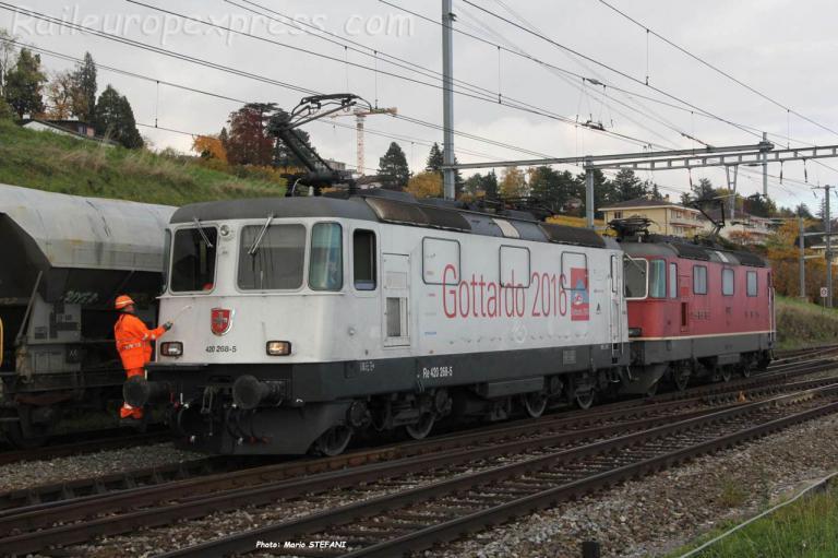 Re 420 268-5 CFF à Auvernier (CH)