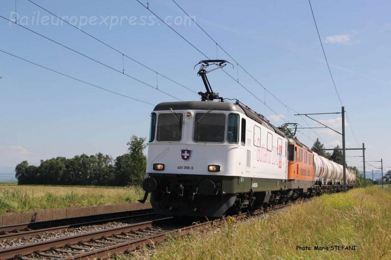 Re 420 268-5 CFF à Boudry (CH)