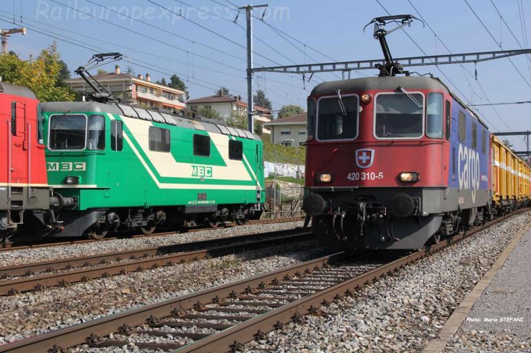 Re 420 310-5 CFF à Auvernier (CH)