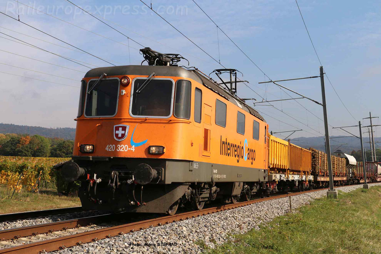 Re 420 320-4 CFF à Boudry (CH)