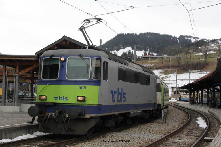 Re 420 505 BLS à Zweisimmen (CH)