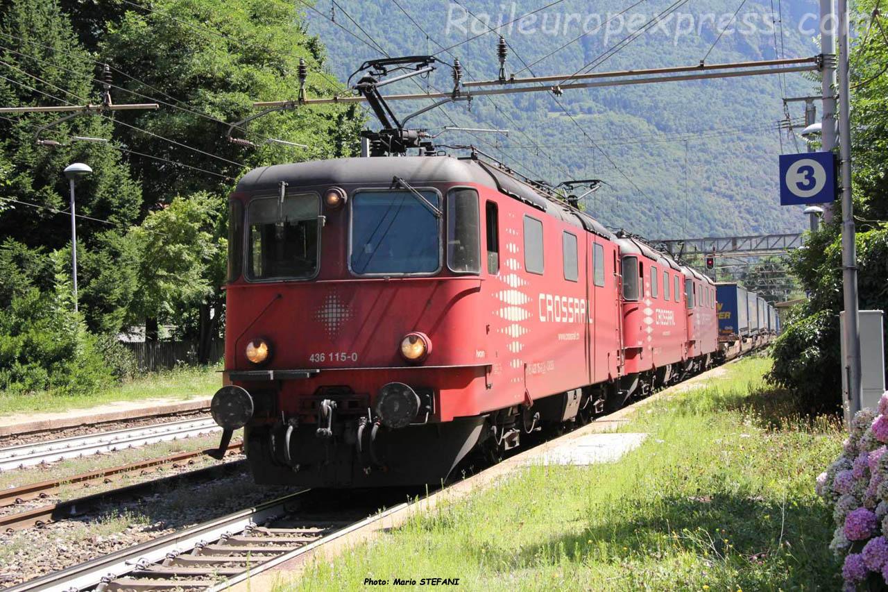 Re 436 115-0 Crossrail à Varzo (I)