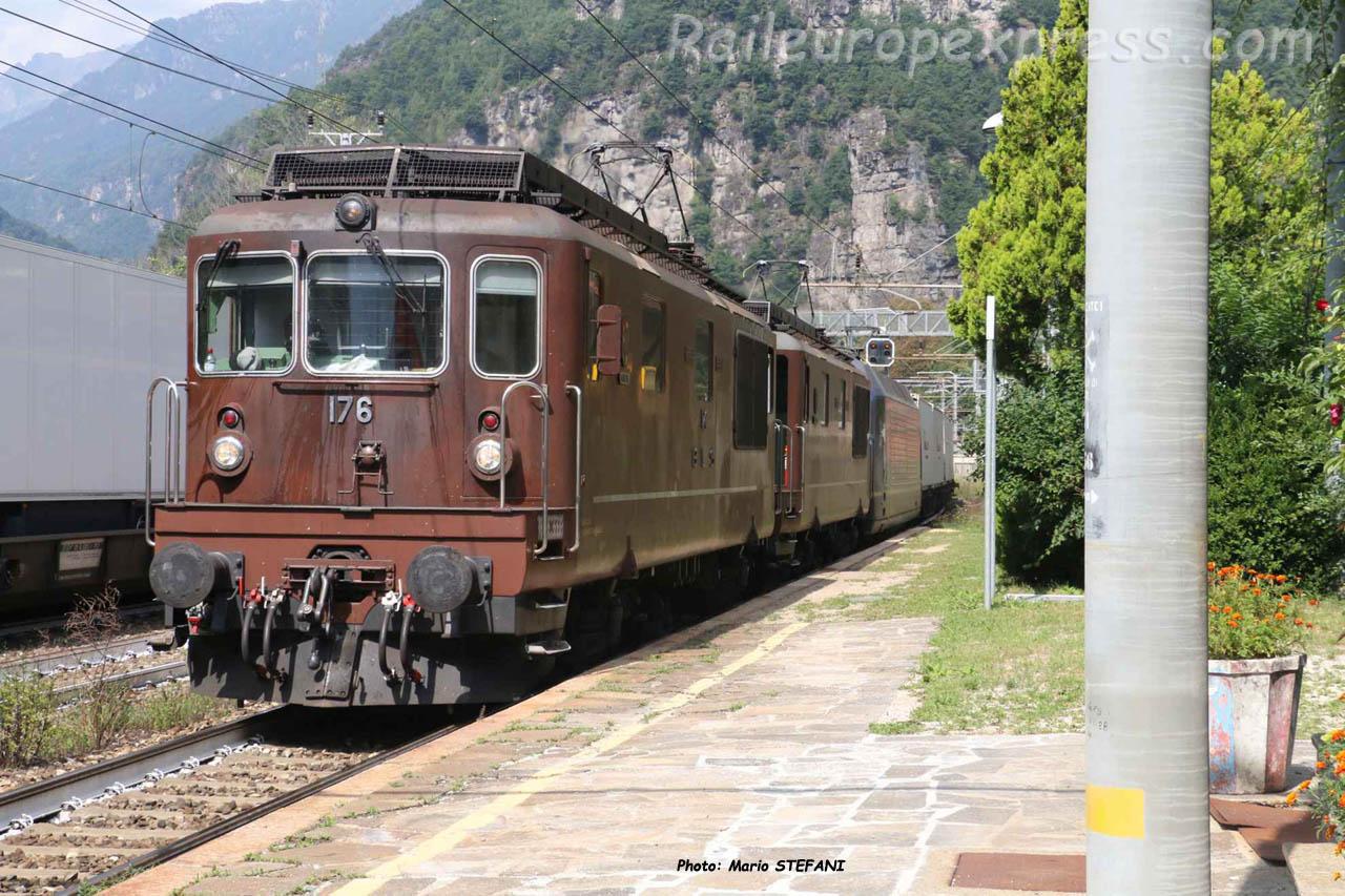Re 4/4 465 BLS à Varzo (I)