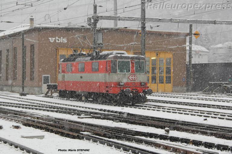 Re 4/4 II 11108 CFF à Brig (CH)