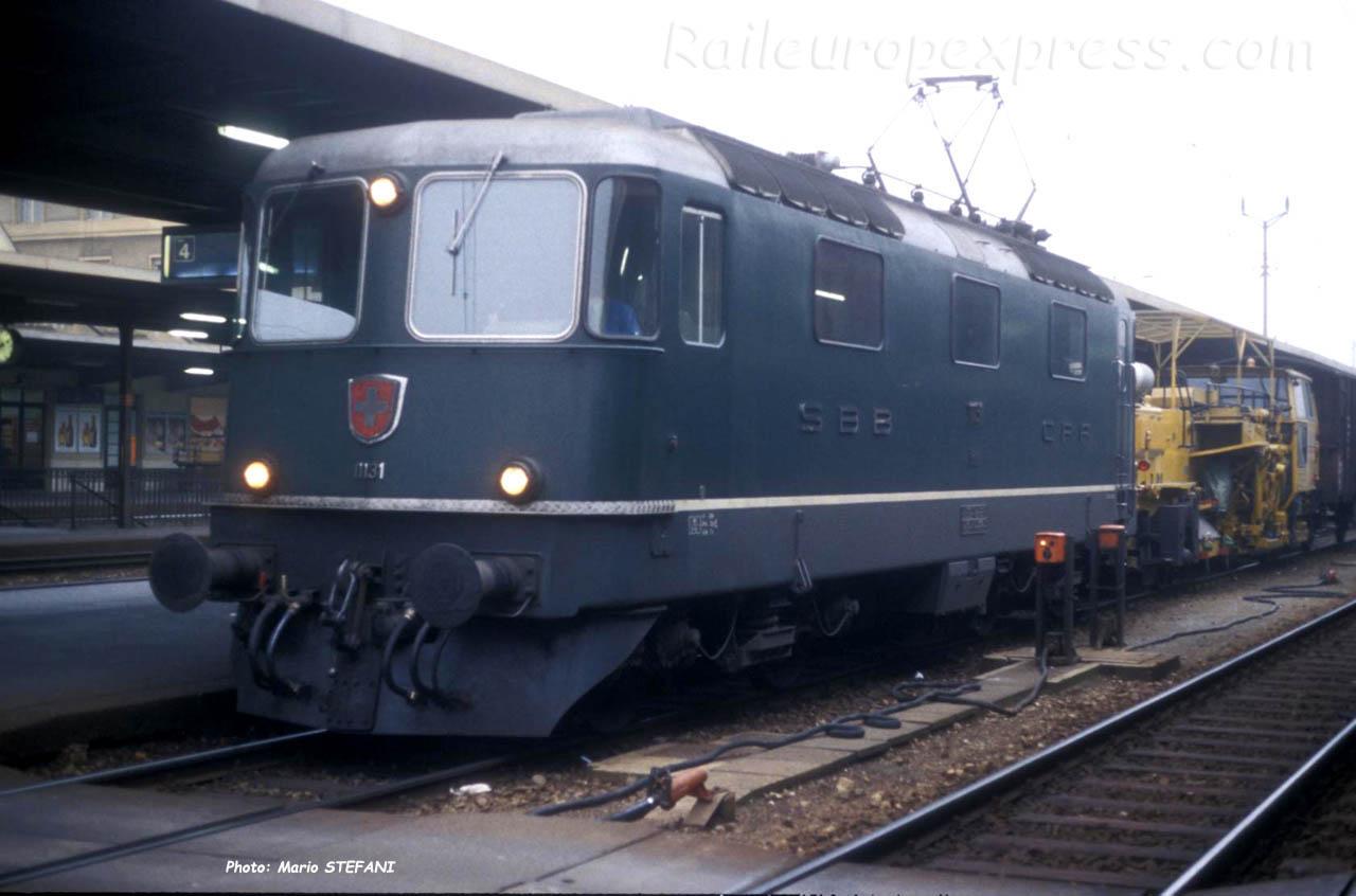Re 4/4 II 11131 CFF à Neuchâtel (CH)
