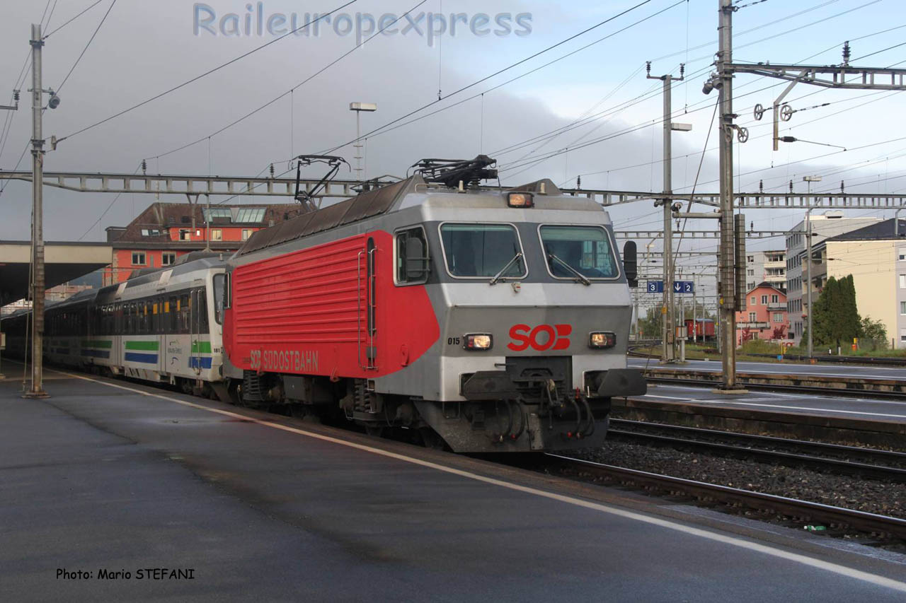 Re 446 015 SOB à Arth Goldau (CH)