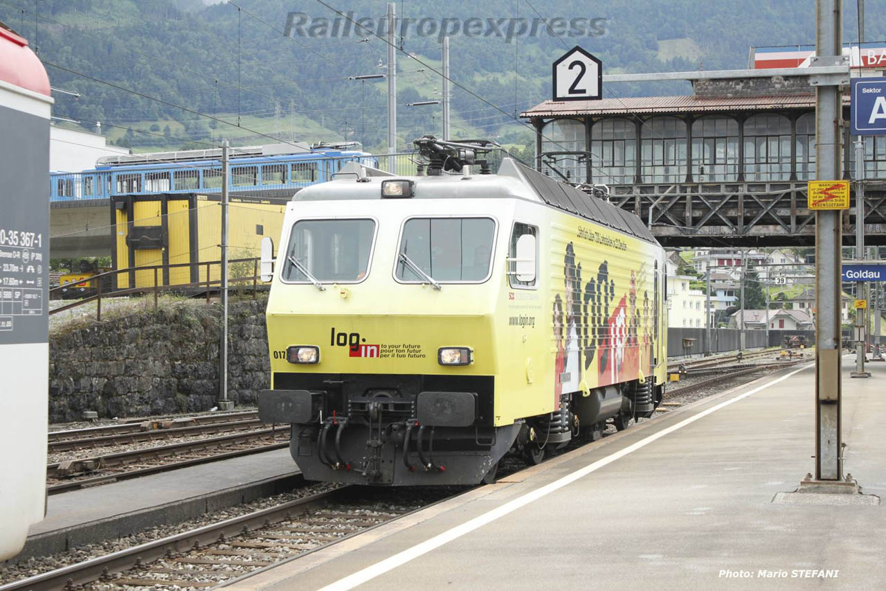 Re 446 017-6 à Arth Goldau