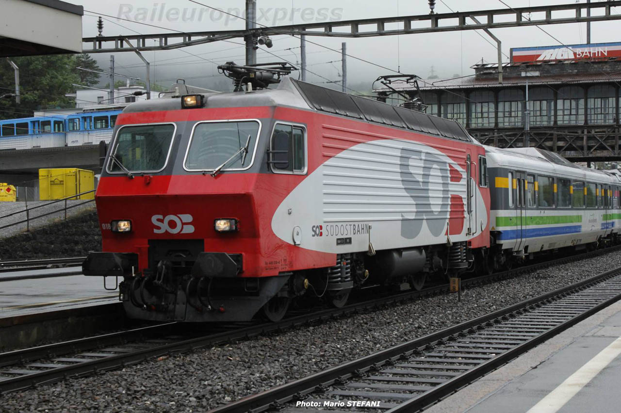 Re 446 018-4 SOB à Arth-Goldau (CH)