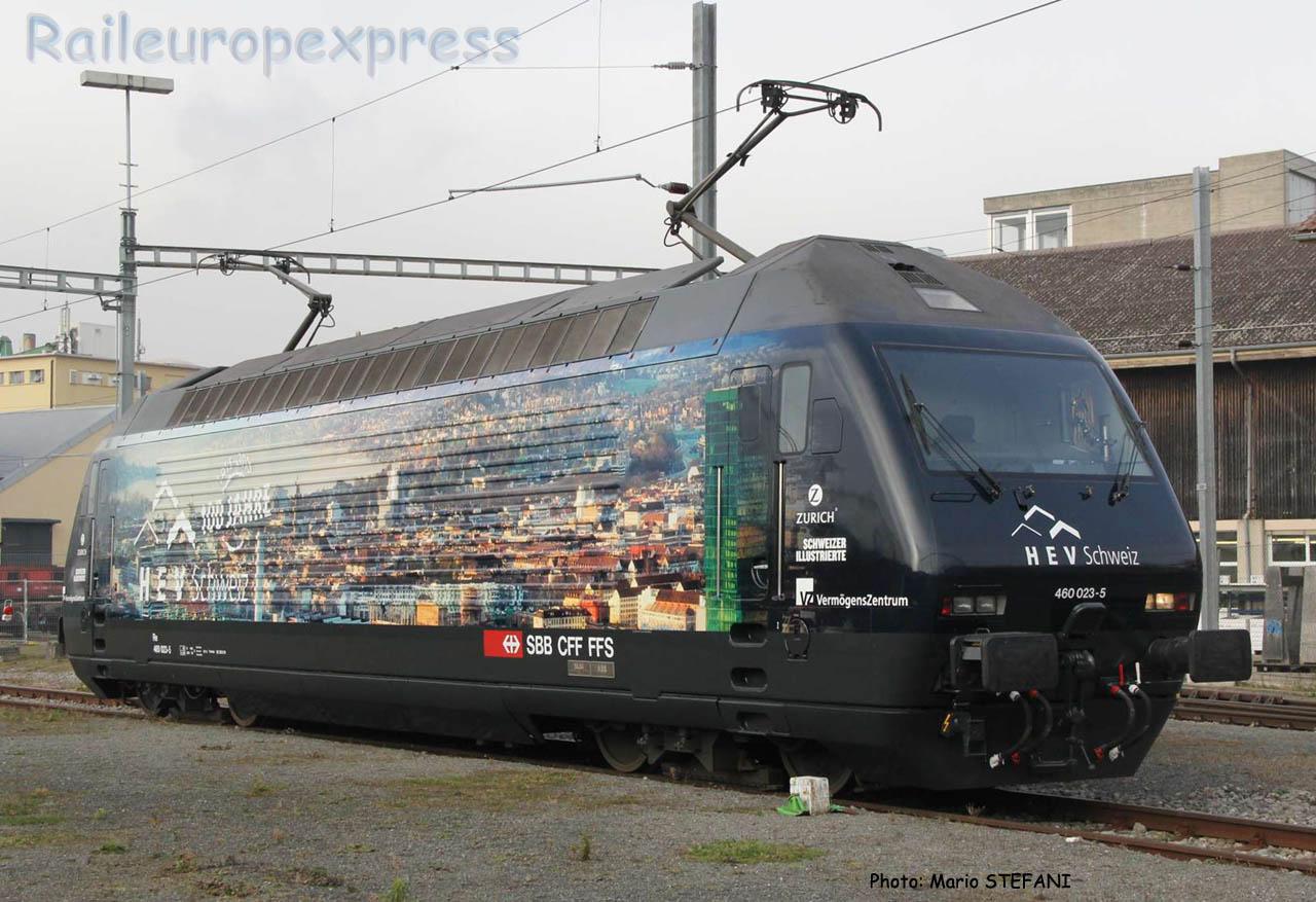 Re 460 023-5 CFF à Yverdon (CH)