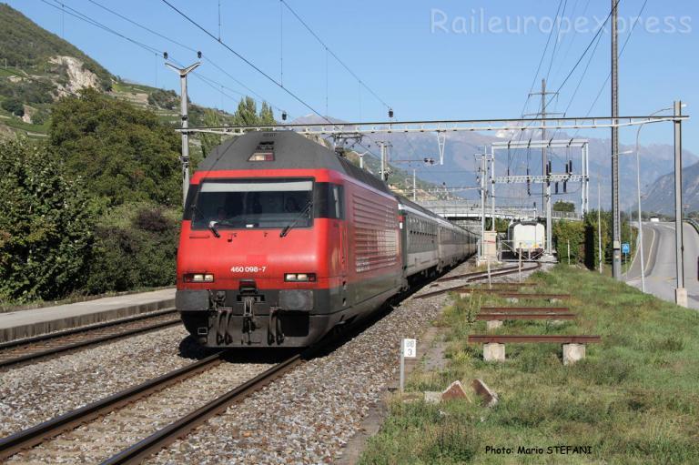 Re 460 098-7 CFF à Saint Léonard (CH)
