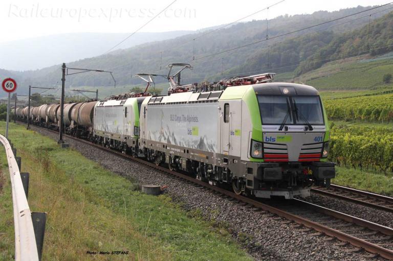 Re 475 401 BLS à Cressier (CH)