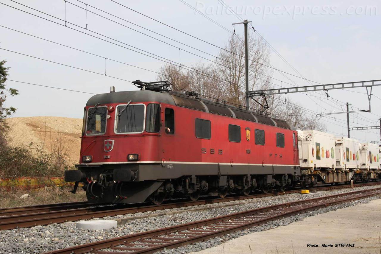 Re 6/6 11628 CFF à Boudry (CH)