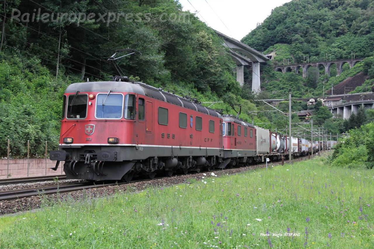Re 6/6 11672 CFF à Giornico Parondino (CH)