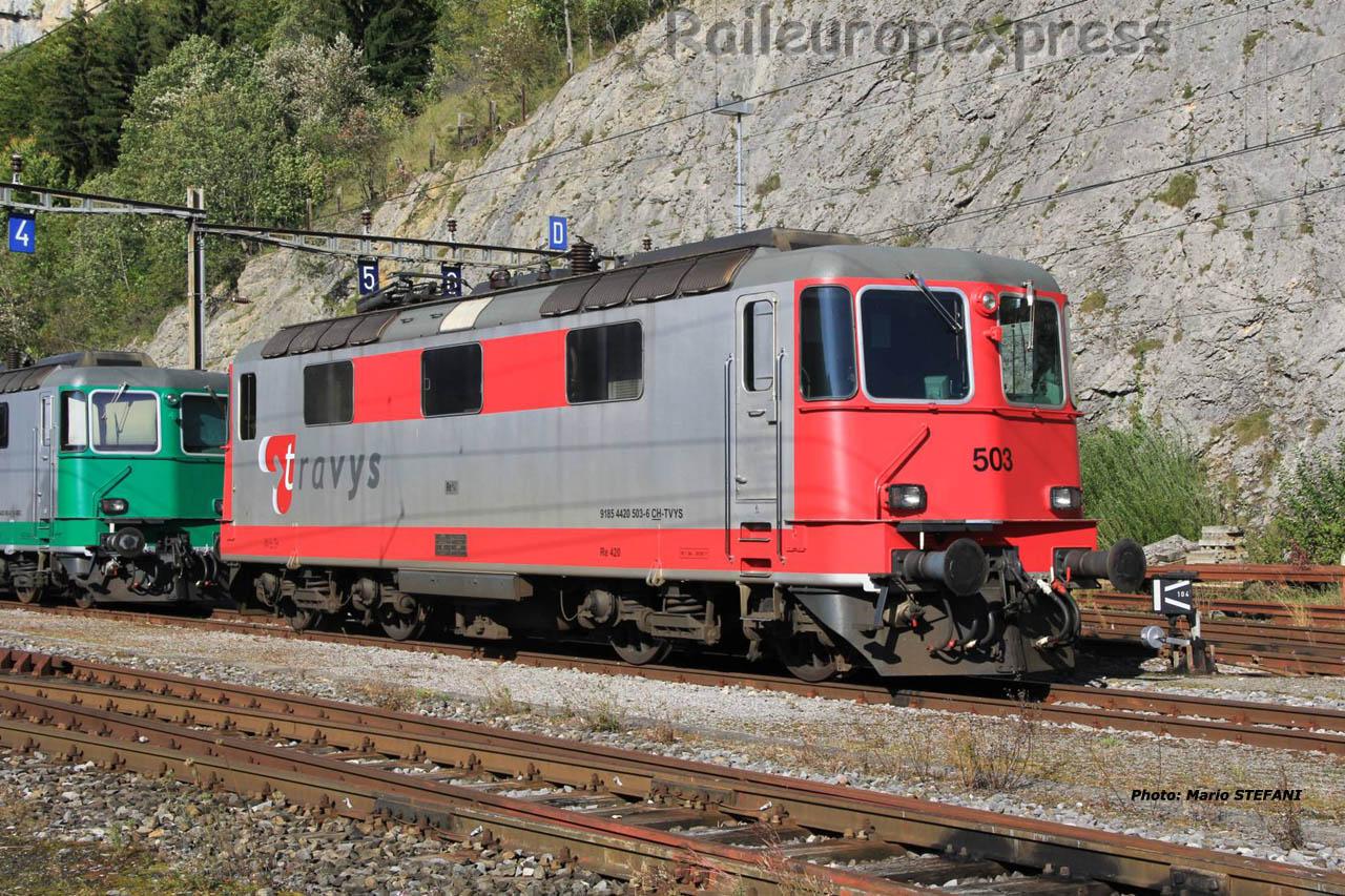 Re 91 85 4420 503-6 Travys à Vallorbe (CH)