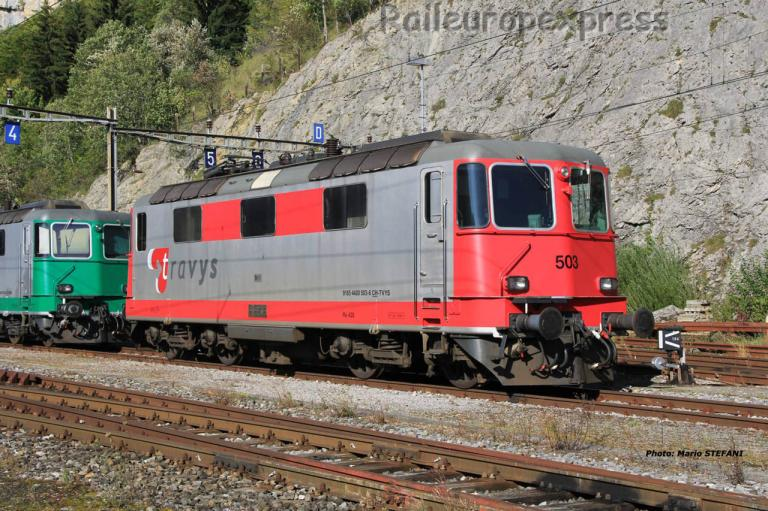 Re 91 85 4420 503-6 Travys à Vallorbe (CH)