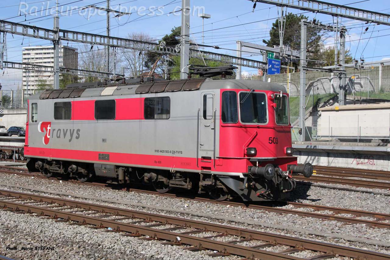 Re 91 85 4420 503-8 Travys à Morges (CH)