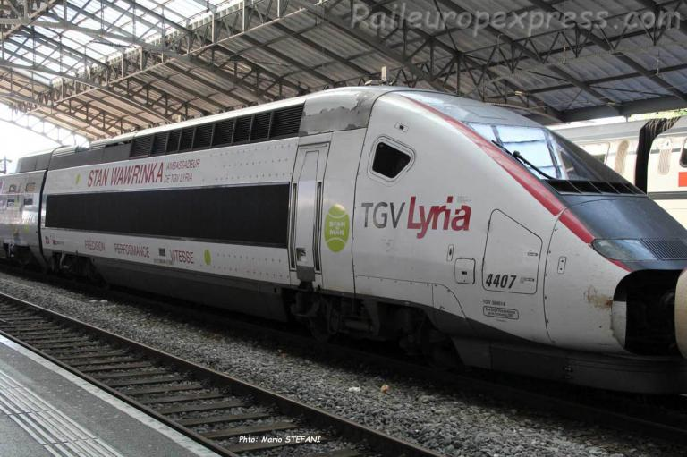 TGV 4407 Lyria à Lausanne (CH)