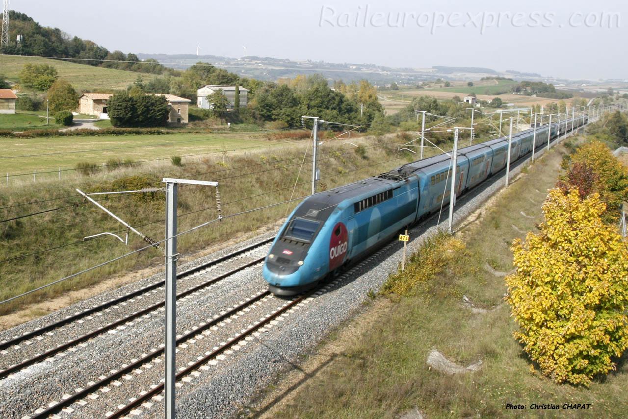 TGV Ouigo vers Claveyson (F-26)