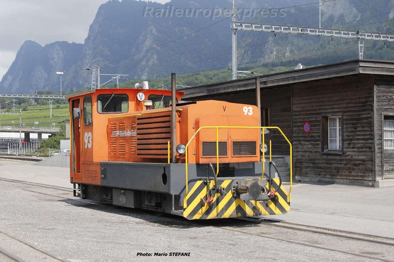 Tm 2/2 93 RhB à Untervaz (CH)