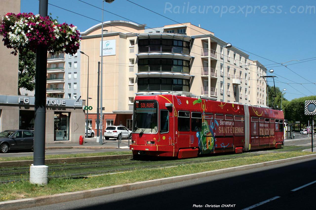 Tram de Saint Etienne (F-42) pelliculage Euro 2016