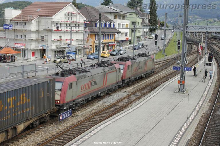 UM de 186 Crossrail à Spiez (CH)