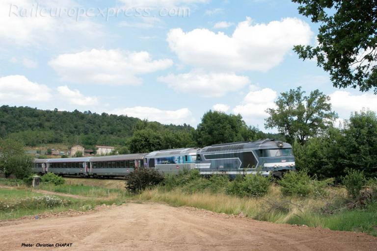 UM de BB 67400 SNCF à Langeac (F-43)