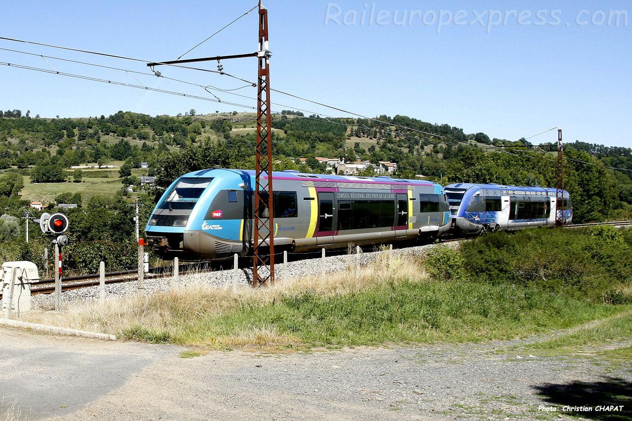 X 73500 SNCF à Andelat (F-15)