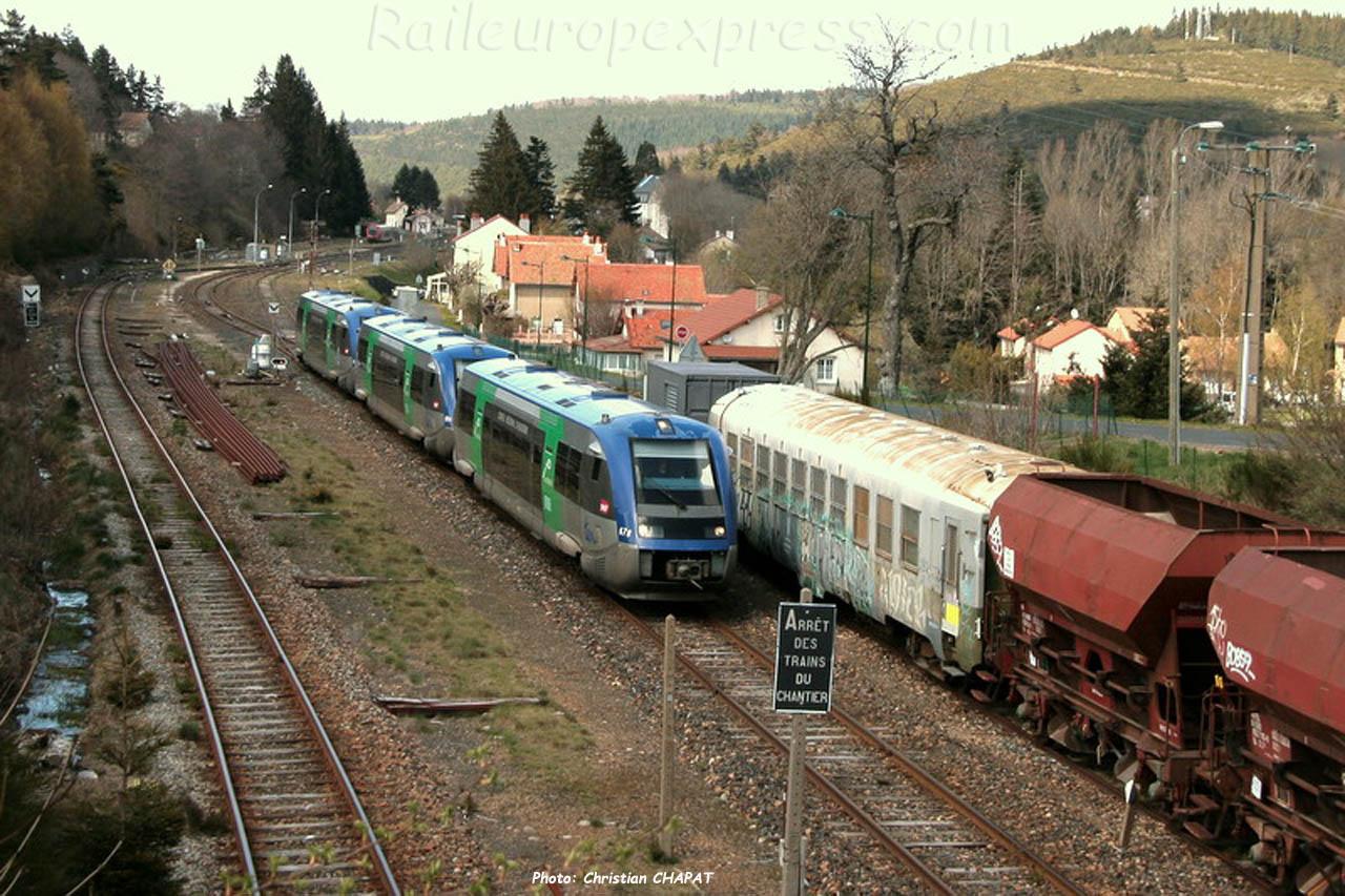 X 73500 SNCF à La Bastide-Saint Laurent les Bains (F-48)