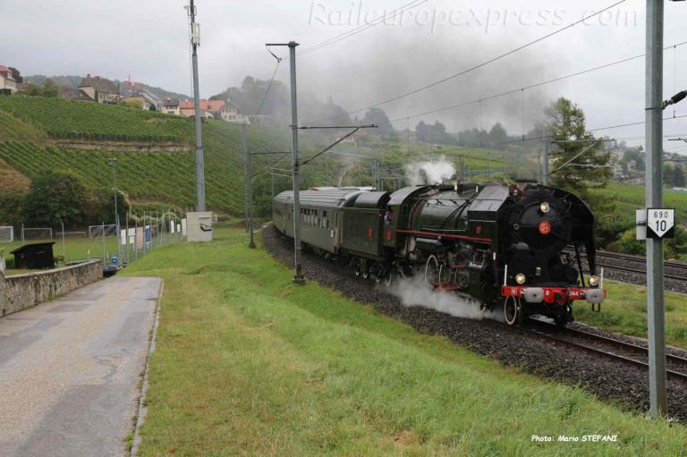 141 R 1244 SNCF à Auvernier (CH)