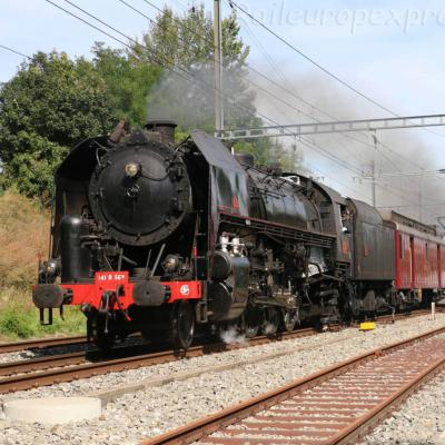 141 R 568 SNCF à Boudry (CH)