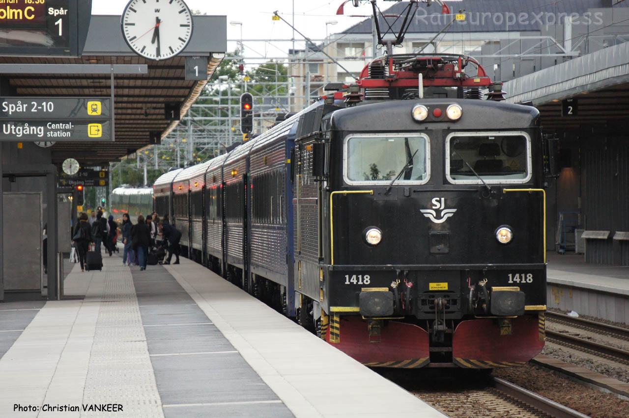 1418 SJ à Uppsala (Suède)