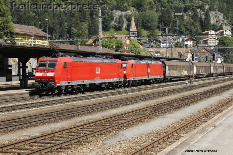 185 126-0 DB à Göschenen (CH)