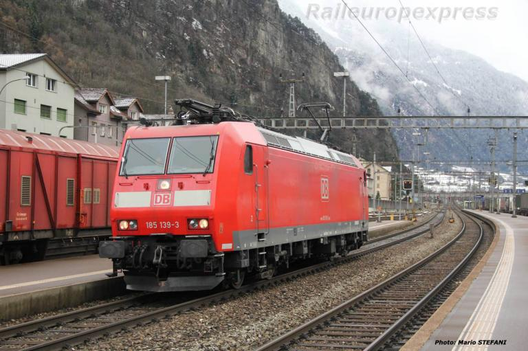 185 139-3 DB à Erstfeld (CH)