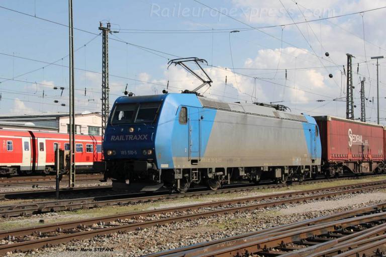 185 510-5 Railtraxx à Basel (CH)