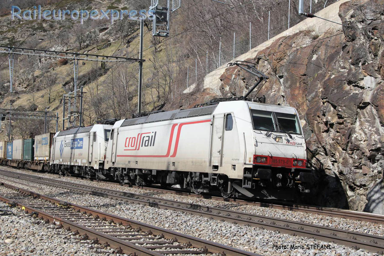 185 579-0 Crossrail à Lalden (CH)
