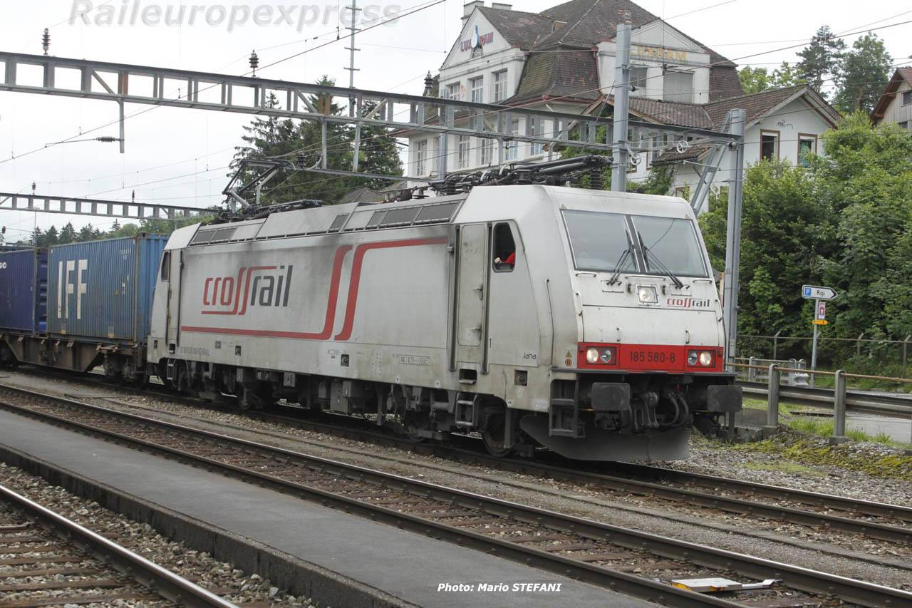 185 580-8 Crossrail à Arth Goldau