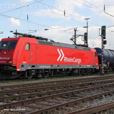 185 582-4 Rhein Cargo à Basel (CH)