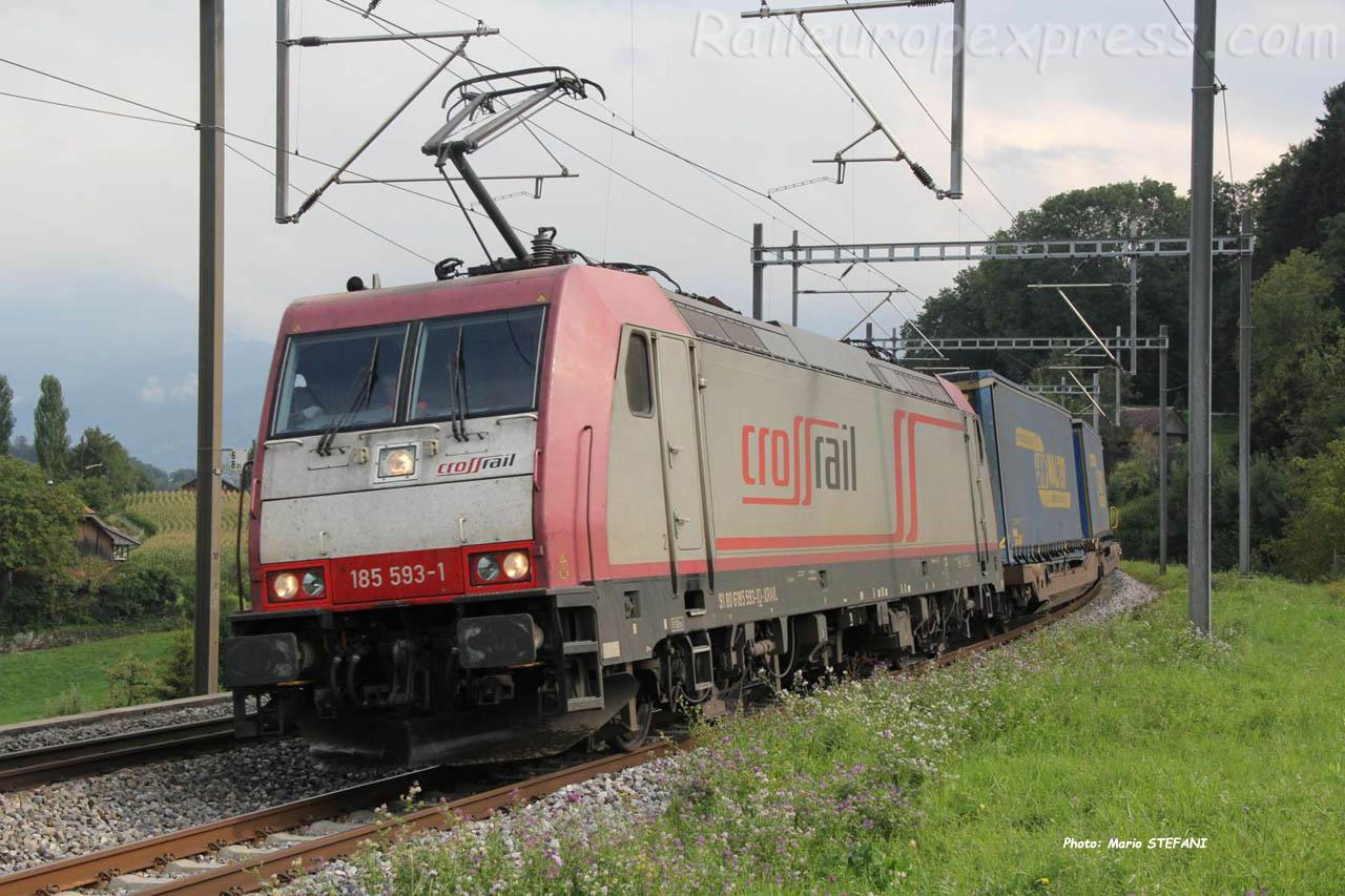 185 593-1 Crossrail à Kumm (CH)