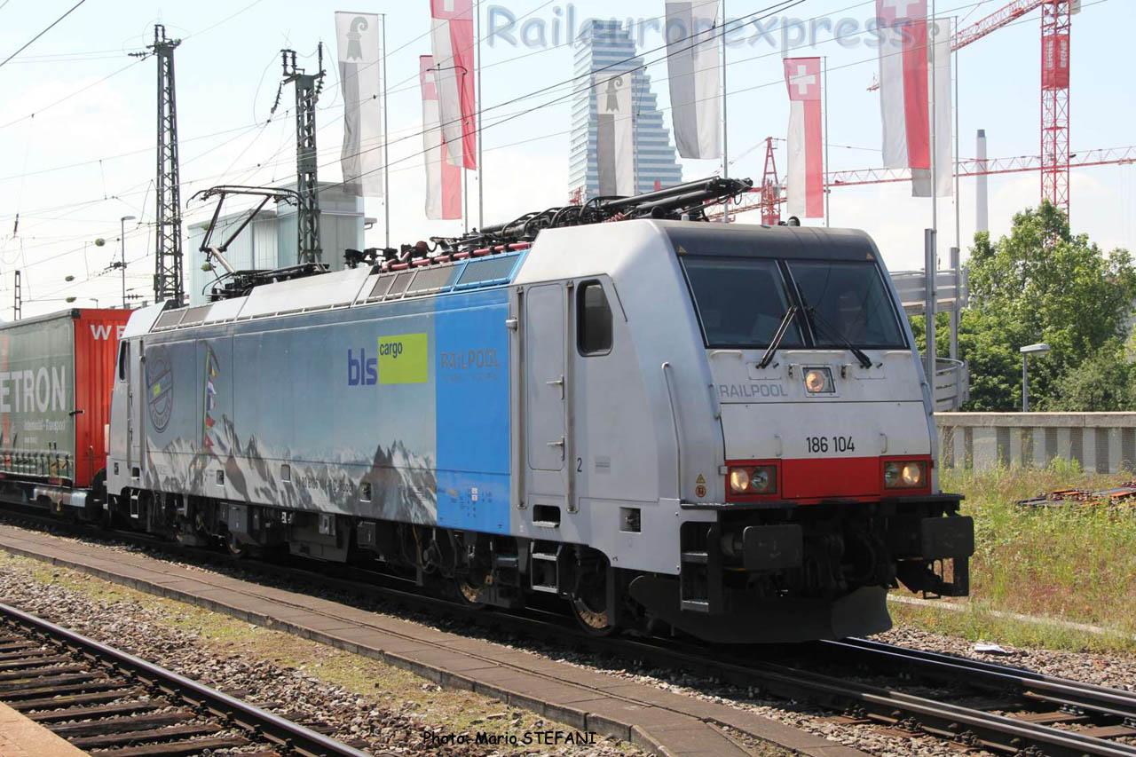 186 104 BLS Railpool à Basel (CH)