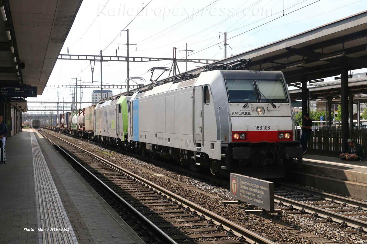 186 106 Railpool à Pratteln (CH)