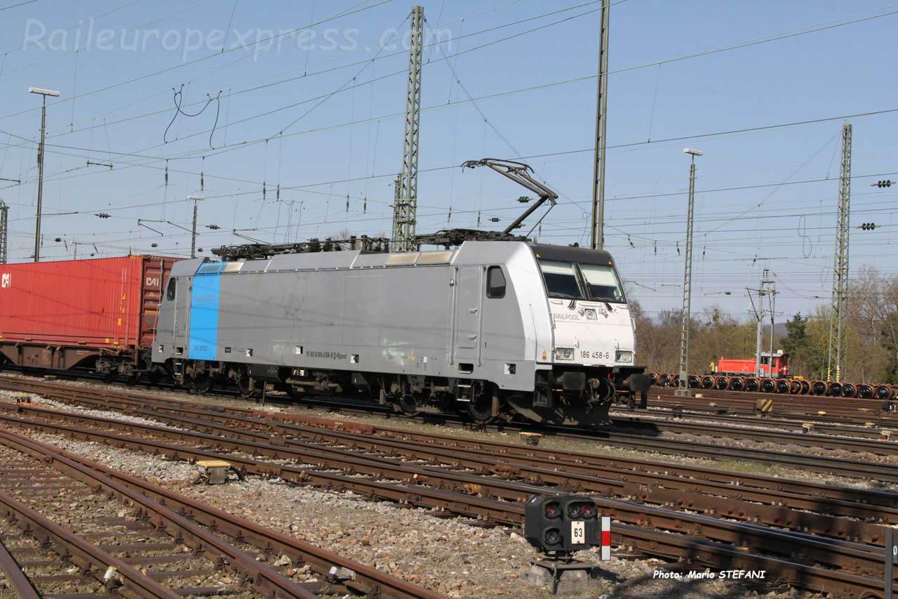 186 458-6 Railpool à Basel (CH)