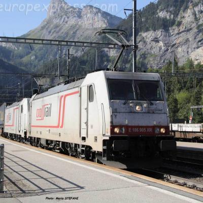 186 905 Crossrail à Kandersteg (CH)