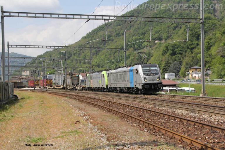 187 004-7 Railpool  à Marrogia Melano (CH)