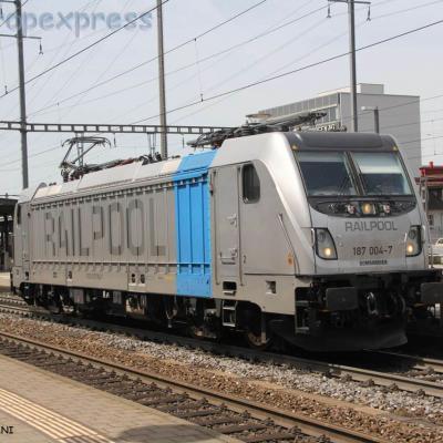 187 004-7 Railpool à Pratteln (CH)