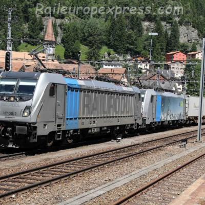 187 006-2 Railpool à Göschenen (CH)